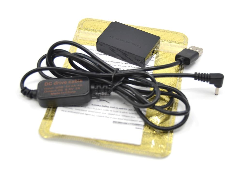 DR-E12 DC Coupler LP-E12 Dummy Battery DC Grip 5V-8 4V USB