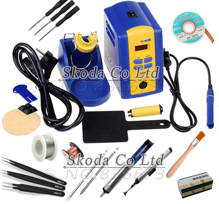 FX951 Digital display thermostat Soldering Station kits FM2028 solder iron handle T12 iron tips 75W 110/220V dhl free shipping hot sale 220v hakko fx 888 fx888 888 solder soldering iron station with 10 free tips 900m t