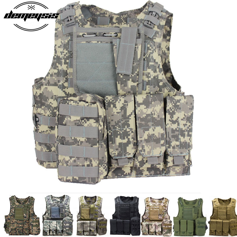 Tactical Vest Law Enforcement Molle Airsoft Modular CS field Army Fans Outdoor Supplies Training Vest