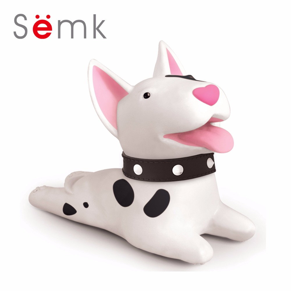 Semk Cute Cartoon Dog Door Stopper Holder Bull Terrier PVC safety for baby Home decoration Dog Anime Figures Toys for Children super cute plush toy dog doll as a christmas gift for children s home decoration 20