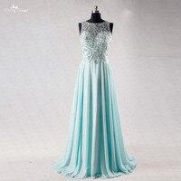 RSE729 Światła Aqua Szyfonu Suknia Kryształ Sukienka