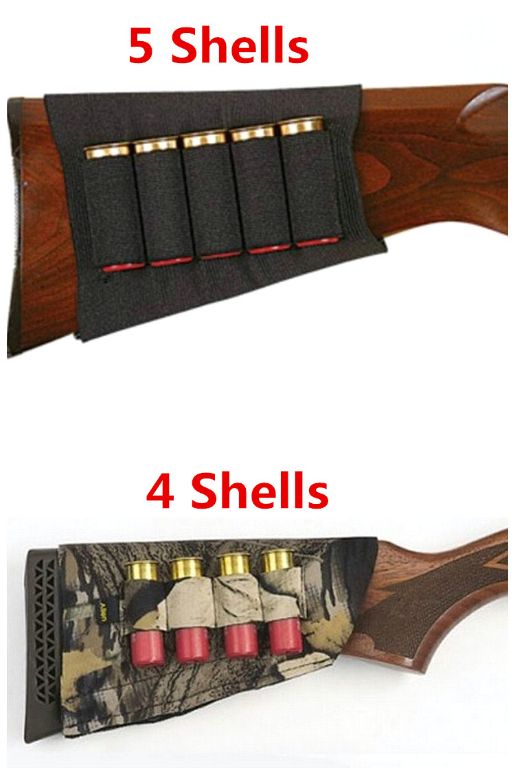 Tactical Airsoft Hunting Buttstock Rifle Butt Stock Shell Cartridge Holder Military Paintball Ammo Rifle Gun Bullet