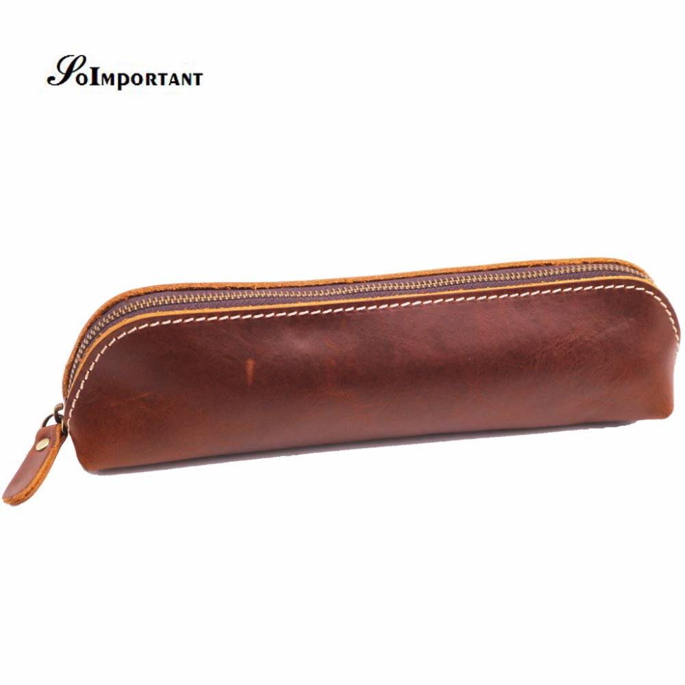Genuine Crazy Horse Leather Wallet Coin Purse Long Zipper Women Wallets Pen Pocket Women Organizer Cosmetic