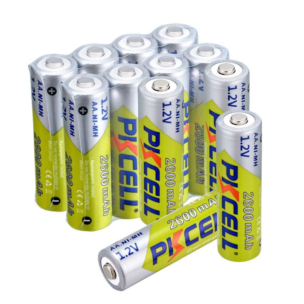 16 pcs NI MH 2600Mah 1 2V aa Batteries AA Rechargeable Battery Batteries 2A Bateria Baterias