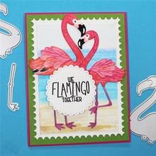 YaMinSanNiO Flamingos Bird Metal Cutting Dies New 2019 Animals Scrapbooking for Card Making Paper Embossing Stencil Craft