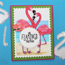YaMinSanNiO Flamingos Bird Metal Cutting Dies New 2019 Animals Dies Scrapbooking for Card Making Paper Embossing Stencil Craft(China)