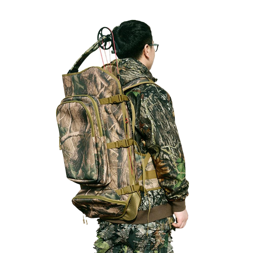 600D Nylon Compound Bow Backpack Archery Bow Storage Bag For Men Women Outdoor Hunting Climbing Camping Accessory 72x42x4cm