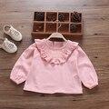 Весна new baby хлопок оказать подкладки верхней одежды детская одежда осень с длинным рукавом Футболка куклы принцессы без подкладки верхней одежды