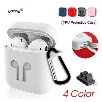 Coque en silicone souple pour Airpods pour dosettes d'air housse de protection antichoc pour écouteurs pour iphone i12 i13 i14 tws accessoires casque
