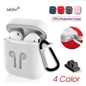 Soft Silicone Case For Airpods For Air Pods Shockproof Earphone Protective Cover for iphone i12 i13 i14 tws Headset Accessories(China)
