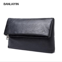 أعلى جودة الرجال pruse الذكور للطي مخلب جلد محفظة الأعمال عارضة سستة محافظ المال حقيبة جيب