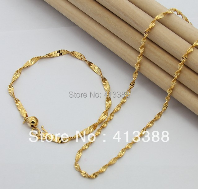 New Hot Fashion 2017 Top Quality 2mm Width Singapore Twisted Chain