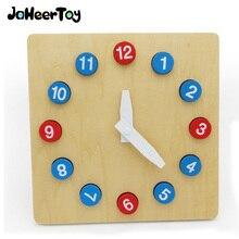 Jaheertoy детские игрушки часы деревянные игрушки Монтессори цифровой познание 3-4-5-6 лет для детей развивающие Puzzle