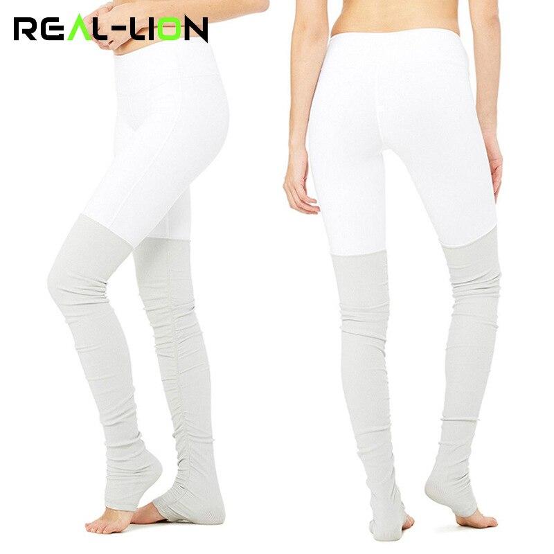 e7d5799737e Reallion High Waist Yoga Leggings Women Fitness Sport Pants Patchwork  Leggins Women Yoga Pants High Elasticity Sport Clothing