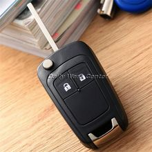 2Button Remote Flip Folding Key Fob Case Shell & Uncut Blade Fit For Vauxhall Opel Astra 2009 Onwards Insignia Car Replacement