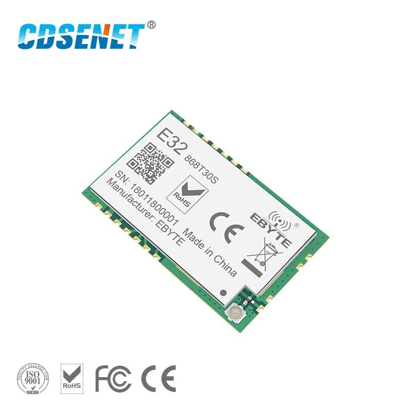 SX1278 868 MHz 1 W SMD émetteur-récepteur sans fil CDSENET E32-868T30S 868 mhz SMD trou de timbre SX1276 émetteur et récepteur longue portée