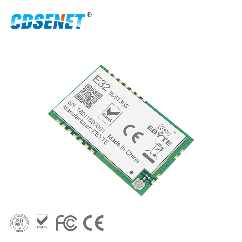 SX1278 868MHz 1W SMD Wireless Transceiver CDSENET E32-868T30S 868 mhz SMD Stamp Hole SX1276 Long Range Transmitter and ReceiverSX1278 868MHz 1W SMD Wireless Transceiver CDSENET E32-868T30S 868 mhz SMD Stamp Hole SX1276 Long Range Transmitter and Receiver