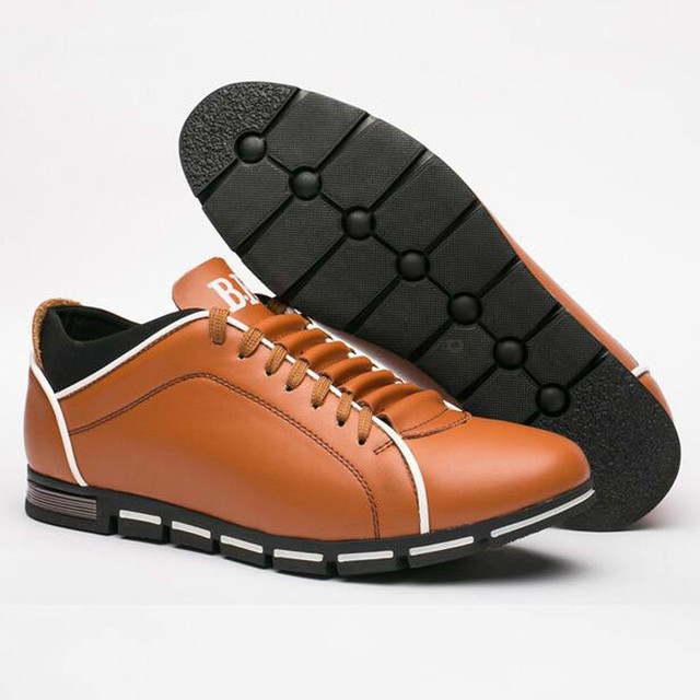 Leather Shoes for Men Summer Men's Flat Shoes