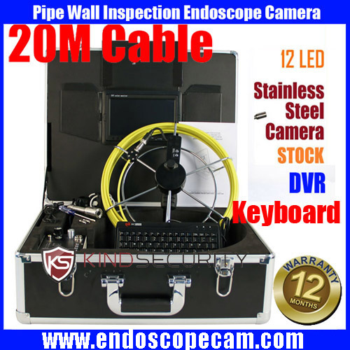 30M waterproof Drain Sewer Inspection Video Camera pipe Industrial Video camera Inspection Endoscope camera with SD