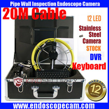 30M waterproof Drain Sewer Inspection Video Camera,pipe Industrial Video camera, Inspection Endoscope camera with SD card DVR
