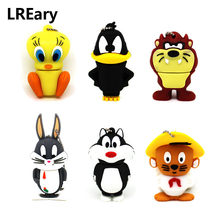 Rato dos desenhos animados/Bugs Bunny/Daffy Duck USB Flash drive chave 64 32 gb memory stick Pen drive gb pendrive 8 gb gb gb cle 16 4 Looney Tunes(China)