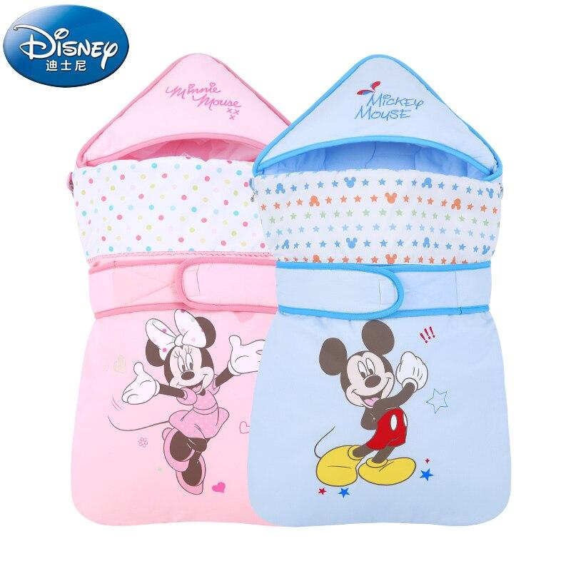 Disney Cartoon Mickey Minnie Baby Receiving Blankets Newborn Baby Girls Boys Etamine Swaddling Spring Summer Sleeping Bags
