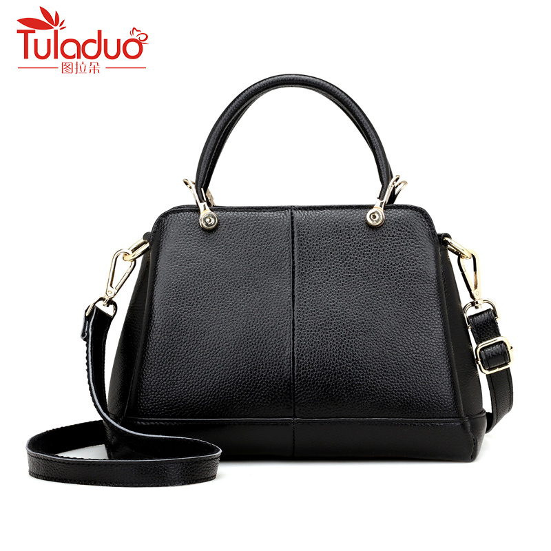цена на Fashion Women Shoulder Bag High Quality Female Bag Large Capacity Genuine Leather Women Handbag Designer Ladies Cow Leather Bags