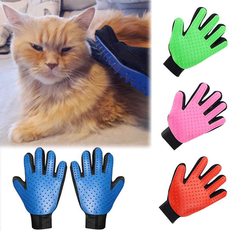 Nicrew Hackle For Cat Comb Grooming Cleaning Supply Deshedding Glove For Cat Dogs Bath Hair Removal Brush Glove For Animal