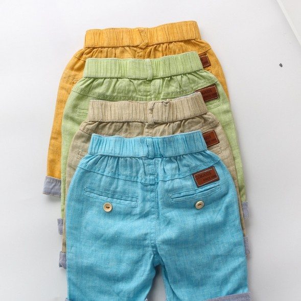 1670970fa 2017 Summer New Boys Pants Fashion Casual Cotton Children's Clothing Linen  Shorts Kids Baby Boy Shorts Yellow Beige Blue Green-in Shorts from Mother &  Kids ...
