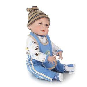 Image 5 - Npkcollection 생생한 다시 태어난 아기 인형 전체 비닐 실리콘 부드러운 진짜 부드러운 터치 인형 놀이 친구 fof 아이 생일 선물