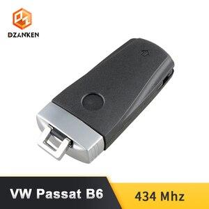 Image 4 - Dzanken 3 Botons Remoto Car Key for VW Passat B6 3C B7 Magotan CC& Transponder Chip& Uncut Blade
