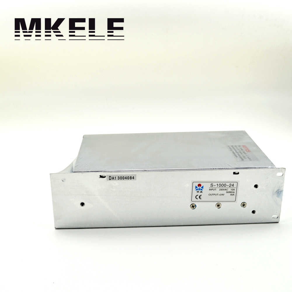 ФОТО High Quality Switch Power Supply Driver Output 1000W 24V 40A DC Adjustable Fonte Makerele Model S-1000-24 The power Module