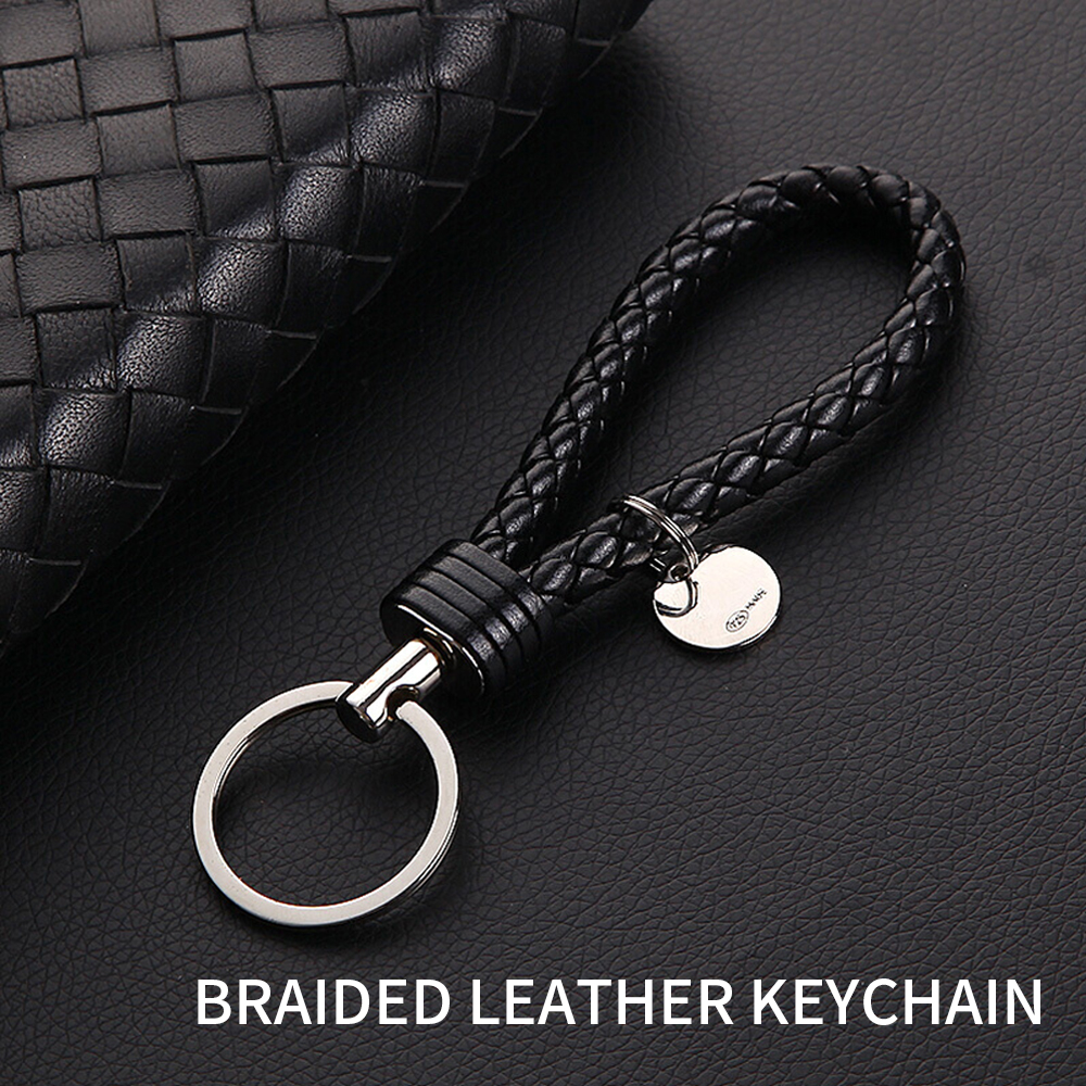Interior Accessories Leather Metal Creative Key Chain Ring Automobile Accessories For Lamborghini Bugatti Hyundai Daewoo Ssangyong Kia Nissan