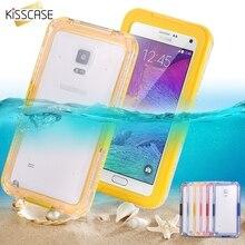 Kisscase Водонепроницаемый Плавание чехол для Samsung Galaxy Note 2 3 4 Чехол прозрачный кристалл дайвинг серфинг телефона Coque принципиально основа