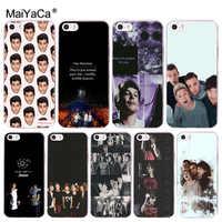 MaiYaCa One Direction 1d Louis Tomlinson Coque Shell Caixa Do Telefone para iphone 11 Pro 8 7 6 6S Plus X 5 5S SE Capa XS XR XSMAX
