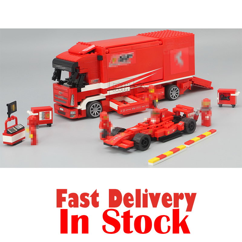 Lepin 21022 Super Race Car F1 Truck Vehicle Automobile Carrier Educational Building Block Bricks toys for Kids Compatible 8185 lepin 21010 super race formula f1 racing container truck model building kits block 914pcs bricks toys gift for children 75913
