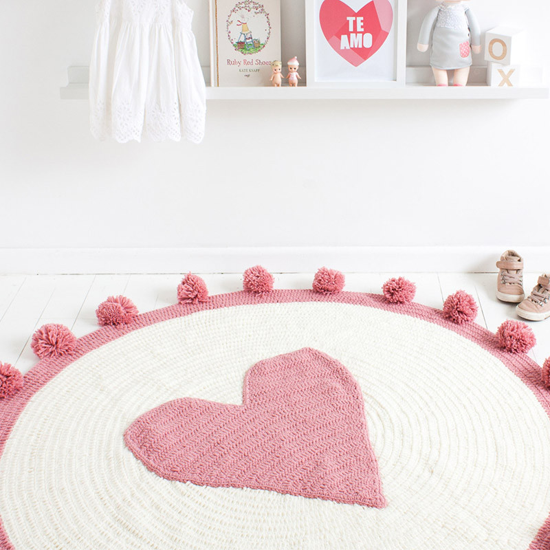 Ins Kids Hand-woven Love Blanket Baby Play Mats Toys Baby Covered Blanket Carton Pure Cotton Blanket Crawling Rug Carpet Blanket Kids Toy Gift (7)