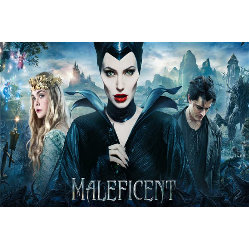 Full Square Round Drill 5d Diy Diamond Painting Maleficent Movie Poster Embroidery Cross Stitch 5d Home Decor Gift New1675