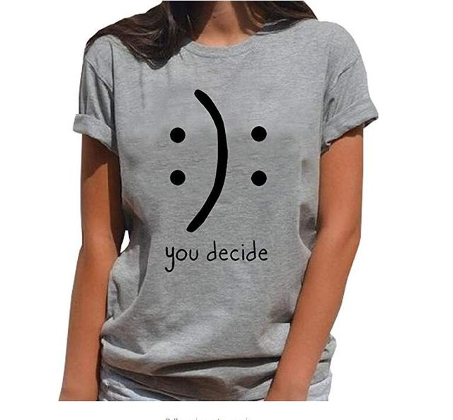 09f26532b1 Hillbilly BLACKMYTH You Decide Funny Printed Women tshirts Summer Short  Sleeved Cotton Graphic Tops Tumblr T Shirt Hipster Vogue