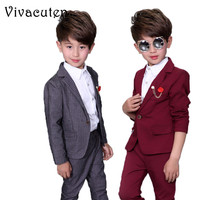 Ceremonial Baby Boys Birthday Dress Suits For Weddings Party Tuxedos Gentleman Formal Costume Boys Blazer Pants