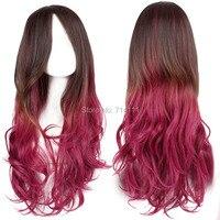 бесплатная доставка харадзюку многоцветные волны длиной косплей парик. акции. бесплатная доставка
