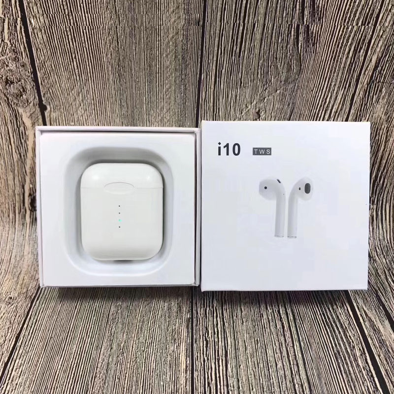 Touch control New i10 TWS Double Mini Airpod Wireless Bluetooth Earphone Earbuds With Charging Box Mic For Iphone Android Xiaomi tws 5 0 bluetooth earphone touch control stereo music in ear type ipx6 waterproof wireless earbuds with charging box yz209