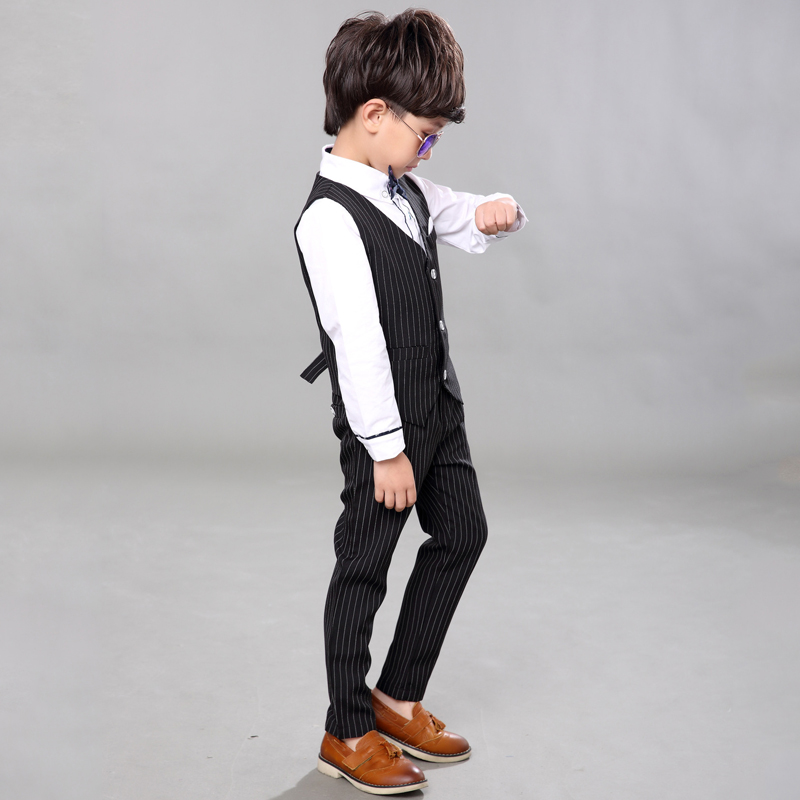48cf61cc0 Baby Boys Vest Suits Kids Striped Wedding Suits Children Summer Tuxedo Suit-in  Clothing Sets from Mother & Kids on Aliexpress.com | Alibaba Group