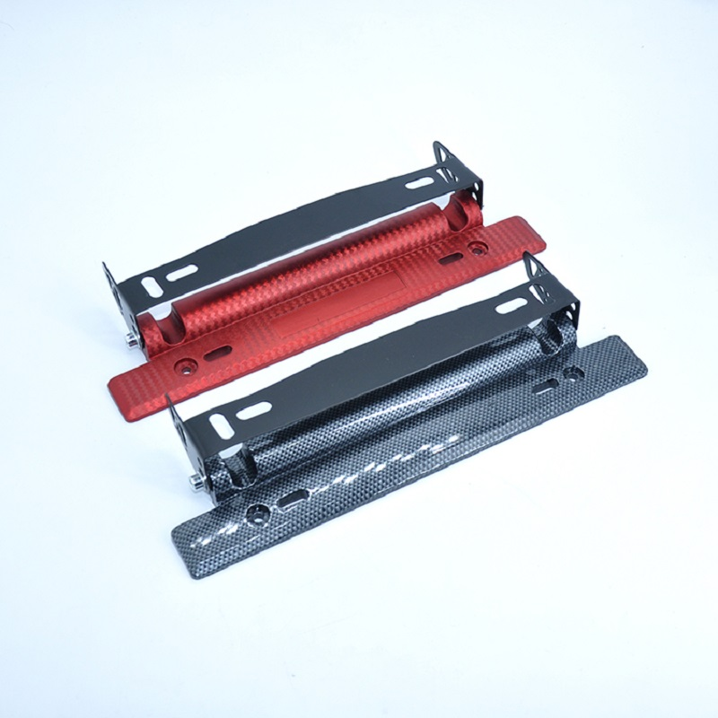Adjustable carbon fiber kanban, aluminum plate frame color red/blue/black multi-color 1 set of before and after(China)