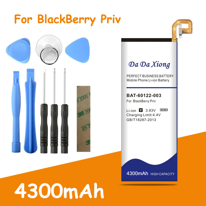 High Quality 4300mAh BAT-60122-003 Suitable for Blackberry Priv STV100-1/2/3 and HUSV1 Mobile phone replacement battery(China)