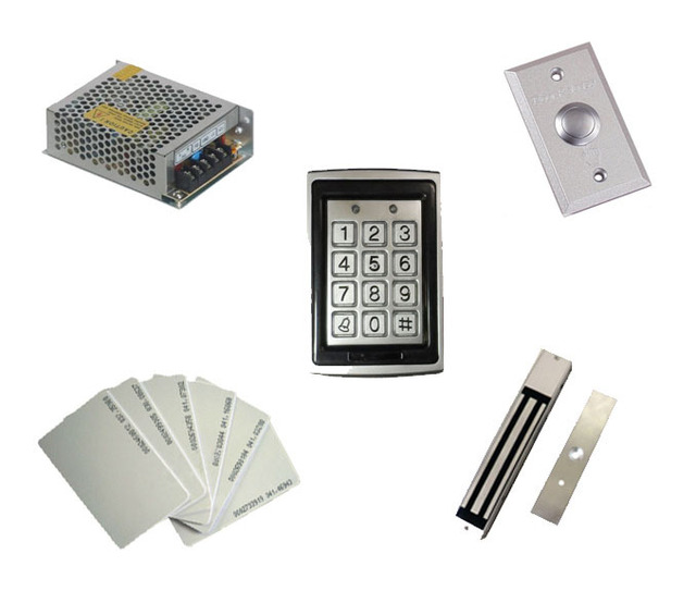 Free shipping by DHL,access control kit ,waterproof access control+power+280kg magnetic  Lock +exit button+10 EM cards,sn:EM-T03