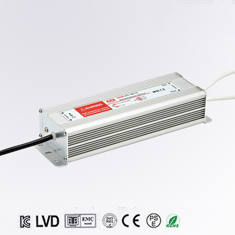 120W 48V 2.5A LED constant voltage waterproof switching power supply IP67 for led drive LPV-120-48 light grey simple long sleeves sweater