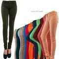NUEVO Popular de Algodón Básica Delgada Pantalones de Colores Pantalones Vaqueros de Mezclilla Lápiz Flaco Envío Libre