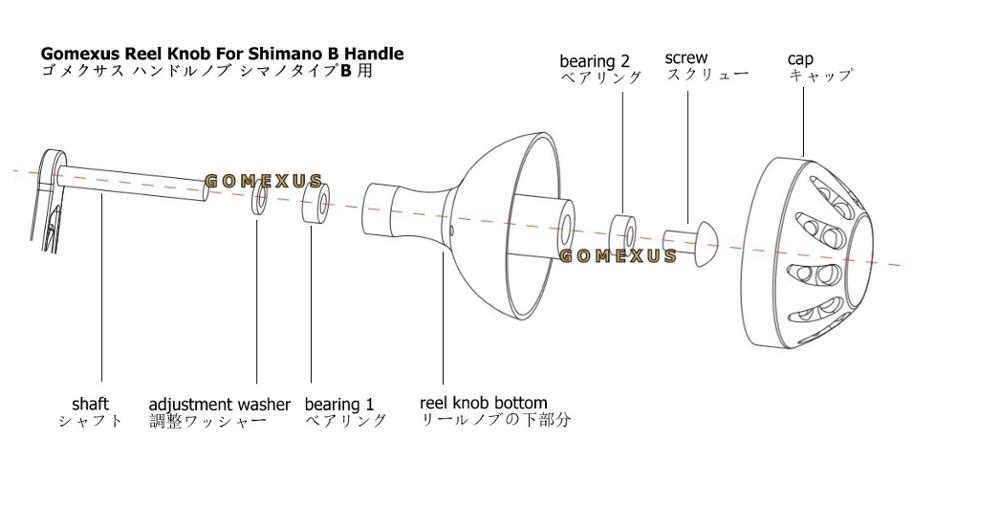 Gomexus Power Knob 45mm For Shimano Reel Handle B Stella SW Saltwater Reel Directly Installed in Fishing Reels from Sports Entertainment