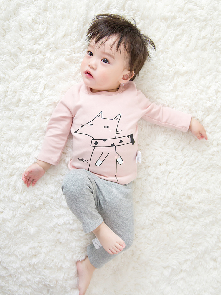 2017 Toddler Kids Baby Boys Girls Infant spring Autumn Long Sleeve cartoon Fox T-Shirt Tops Clothing Cotton cloud rain T-Shirts (32)